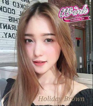 Holiday Brown 0 Degree Contact Lens