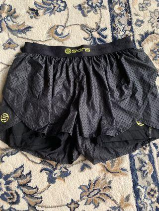 Skins Shorts with spandex inside