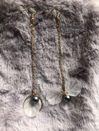 Elegant Flower Long Drop Earrings