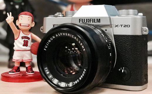 🚚 Fujifilm X-T20 + XF 35mm F1.4R (like new condition)