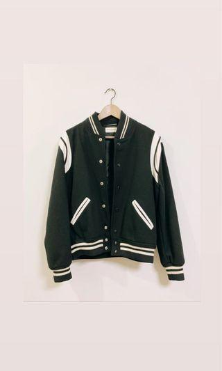 Saint Laurent Teddy Jacket Black/Grey