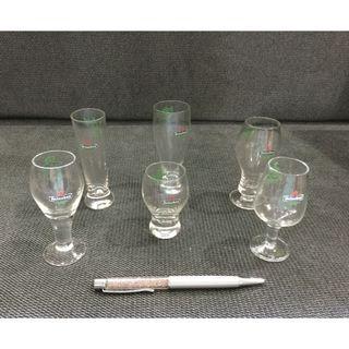 Heineken collectible small wine glasses set