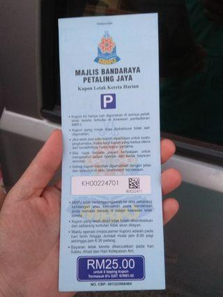 MBPJ RM5 Daily Parking Coupons