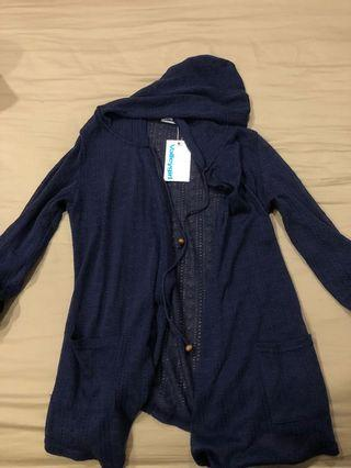 BNWT crochet / knit navy cardigan