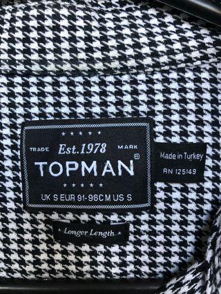 TOPMAN black & white man shirt - Size S