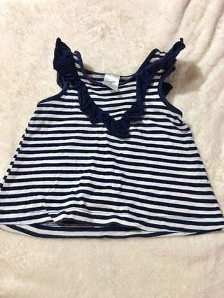 Stripe top for baby 3-9 mnths preloved from australia gift.