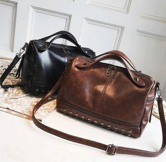 Rivet shoulder bag korean