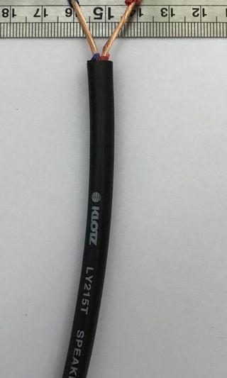 KLOTZ  LY-215T Kabel Khusus Speaker isi 2 x 1.5mm x 100 m