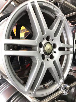 """18"""" AMG rims staggered"""