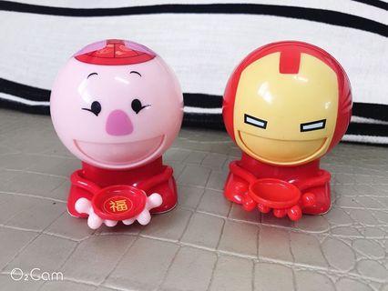 二手寶寶玩具糖果機按吐糖機小豬糖果機鋼鐵人糖果機
