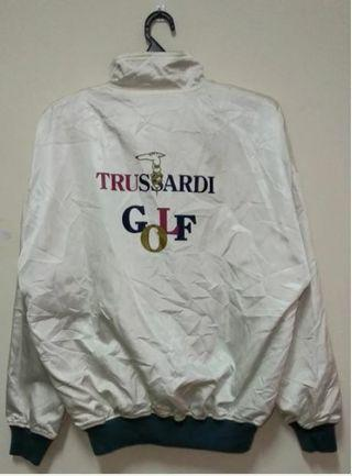 Trussardi Golf Big Logo Sweater Half Zipper
