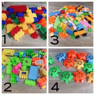 二手兒童寶寶學習積木動腦遊戲 四款積木