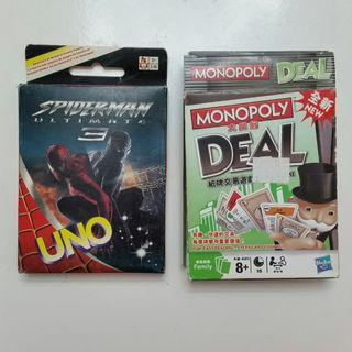 🚚 [Giveaway] Monopoly Deal & Spiderman 3 Uno