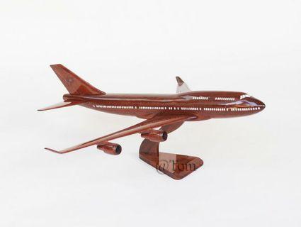 Wooden 747 Model