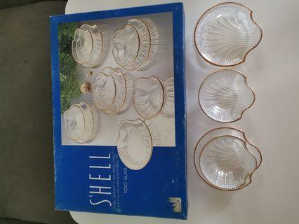 Elegent desert serving Shell shaped glassware