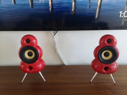 2.1 Smallpod Mk2 Red with spikes bluetooth + The Ball