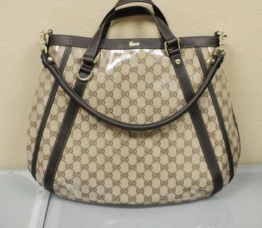 Gucci crystal GG canvas convertible Abbey Tote Bag