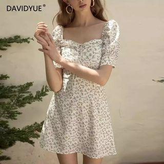 Pre order women's cute floral sleeved dress