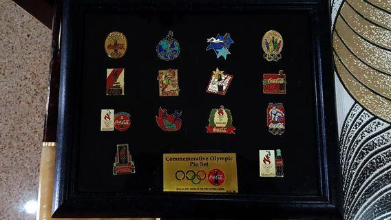 🚚 Commemorative Olympic Pin Set by Coca Cola for collectors