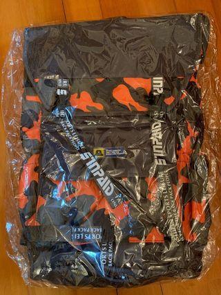 Camo orange olive color backpack