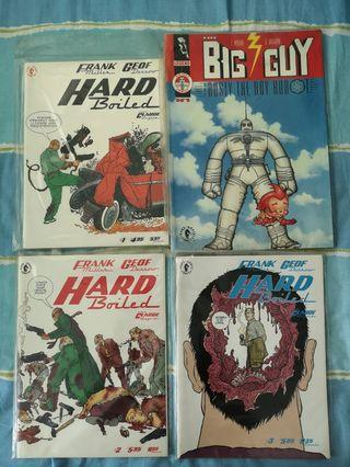 🚚 Big guy and Rusty #1, 2 and Hardboiled #1, 2, 3 1st printing dark horse legends Frank Miller Geof Darrow