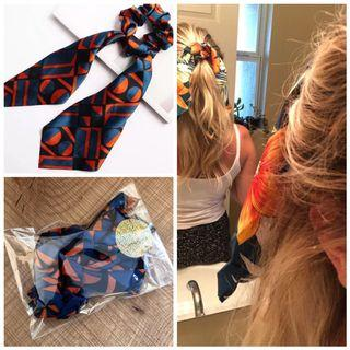 Brand new Aztec design hair band hair tie ribbon tie head band blue orange
