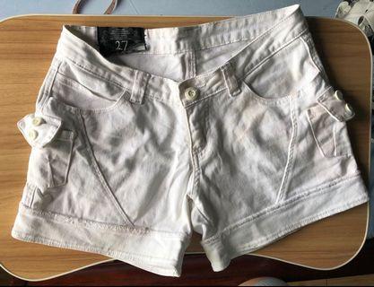 Oxygen white shorts