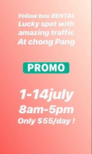 🚚 Yellow box rental JULY in chong pang