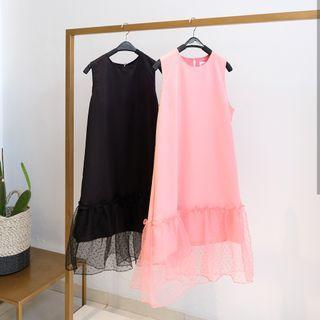 Swan dress (pink & black)
