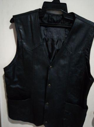 Vest mens leather