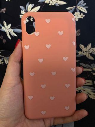 Iphone XS Max Case Pink hearts