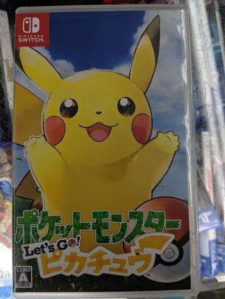 Switch Pokemon Let's Go Pikachu 中英合版