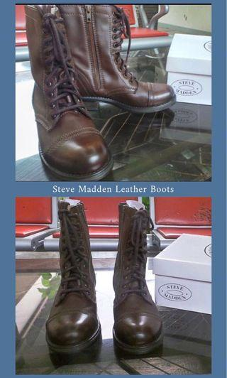 Leather boots Steve Madden