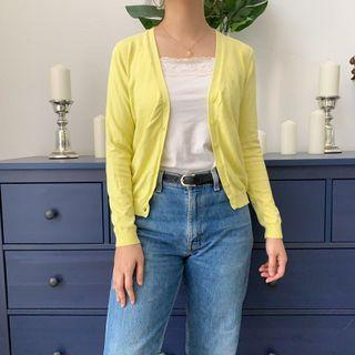 Uniqlo yellow cardigan