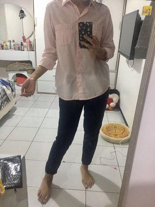 #mauthr kemeja/ blouse baby pink