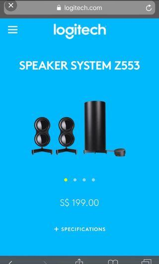 Logitech z553 200sgd real price