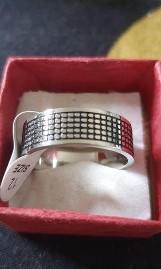 Mens Stainless Steel Ring size 12