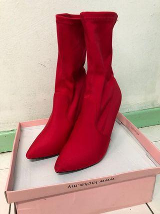 Locka red boots