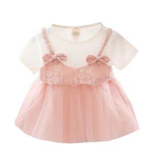 女童紗裙 粉色 橙色 100碼