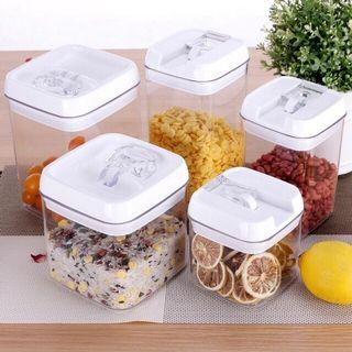 Airtight Food Storage Containers,Easy Lock Clear Organizers with Airtight Lids