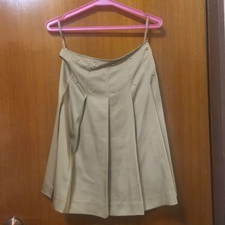 咖色斯文裙