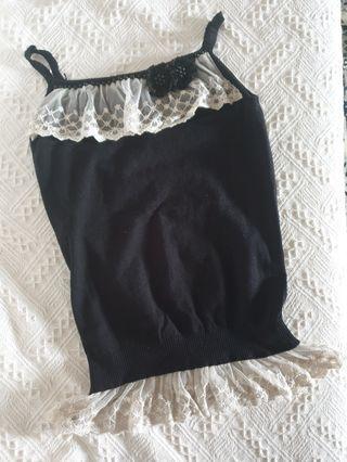 Na Na Reve De La black strap lace top