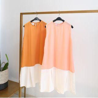 Twotone dress (orange, pink)