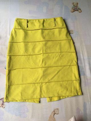 Rok bodycon lime