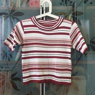 Striped Knitted Crop Top