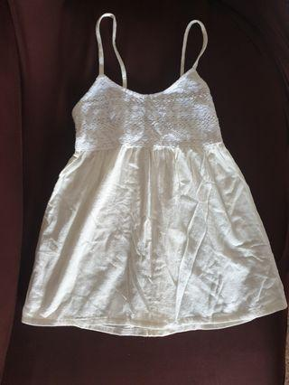 lacitoo collection strap whiteish lace top