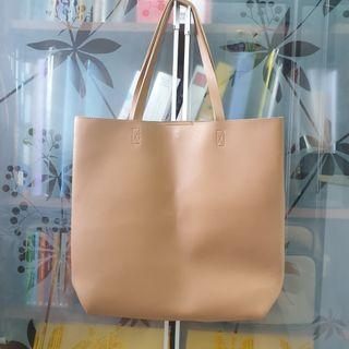Plain Minimalist Brown Tote bag