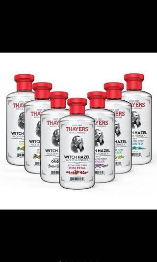 Thayer witch hazel toner
