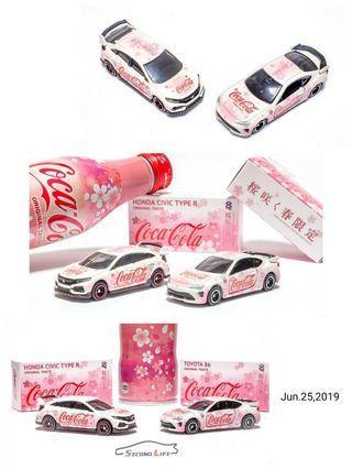 Tw SECOND LIFE     Tomica 格子共和國 Coca~Cola 櫻花春之限定  HONDA FK8/TOYOTA 86