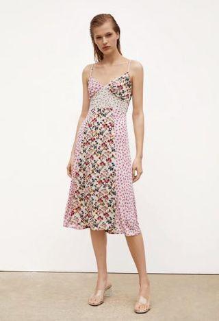 Flora Patchwork Print Dress Zara style